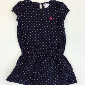 RALPH LAUREN cotton navy and pink dress